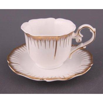 Чайный набор на 6 персон 12 пр. цветочная симфони...