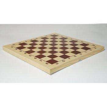 Доска шахматная гроссмейстерская 43х43см, ячейка 4,5см