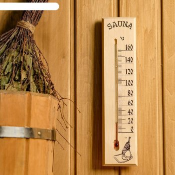 Термометр сувенирный жидкостный для бани и сауны, от 0° до +160°c 30х7х1.5