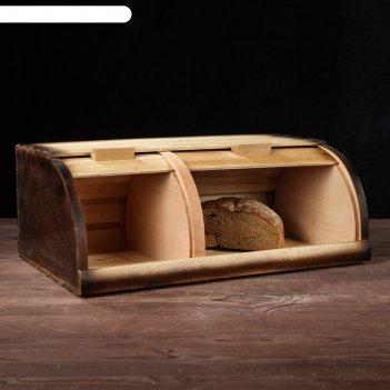 Хлебница на два отделения, 44 х 27 х 17 см, микс