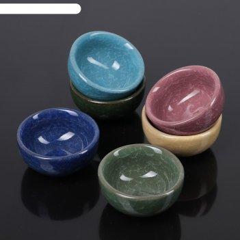 Набор пиал 50 мл лунный камень, 6 шт, цвет микс