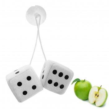 Ароматизатор подвесной кости, белый, яблоко