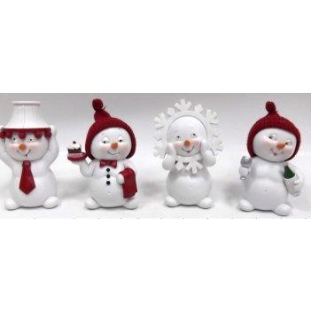 Фигурка декоративная снеговик 8*7*13см