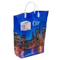 Пакет биг сити мягкий пластик, с карманами, 37х37 см, 150 мкм