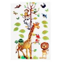 Наклейка-ростомер забавные животные, 50 х 72 см