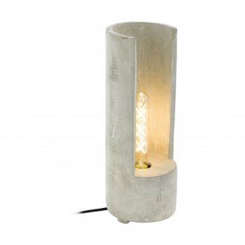 Настольная лампа lynton 60вт e27 серый