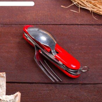 Набор туриста 4в1: нож, вилка, ложка, открывалка