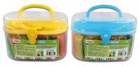 Тесто для лепки: 24 цвета, 672г, формочки, инструменты