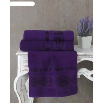 Полотенце rebeka, размер 50 x 90 см, фиолетовый