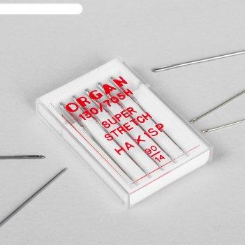 Иглы для бытовых швейных машин, для стрейч-ткани, №90/14, 5 шт