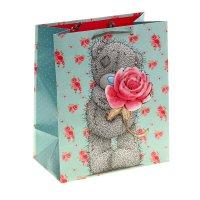 Сумка подарочная мишка с розой, 20х24 см, me to you