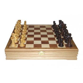 Шахматы классические малые деревянные (высота короля 2,75) 32х32см