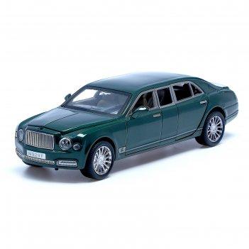 Машина металлическая «лимузин», 1:24, открываются двери, капот, багажник,