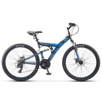Велосипед 26 stels focus md, v010, 21 скорость, цвет чёрный/синий, размер