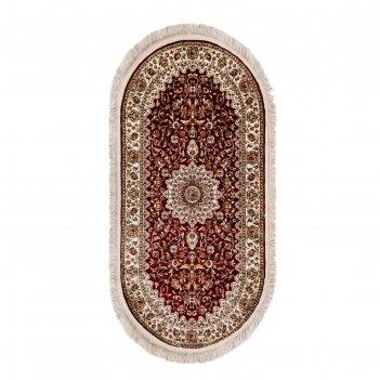 Ковёр elegance 1657 red 2.5*3.5 м, овал
