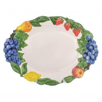 Поднос овальный annaluma фрукты 44*34 см