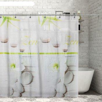 Штора для ванной 180x180 см дзен, eva