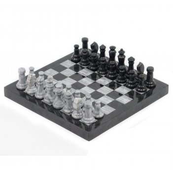 Шахматы мрамор змеевик доска 32х32 см