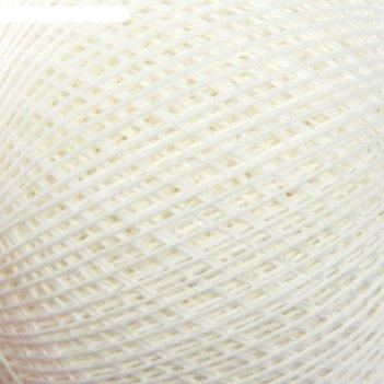 Нитки вязальные снежинка набор 6 шт, 230м/25гр 100% хлопок цвет белый