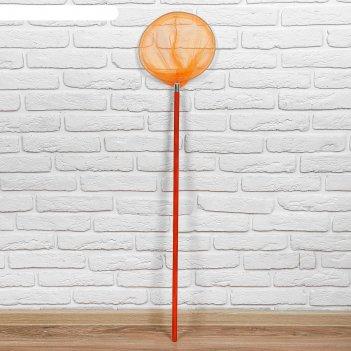 Сачок детский деревянная ручка 90 см. диаметр 24 см , цвет микс