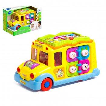 Игрушка развивающая автобус, свет, звук