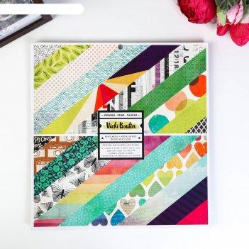 Набор двусторонней бумаги для скрапбукинга vicki boutin - color kaleidosco