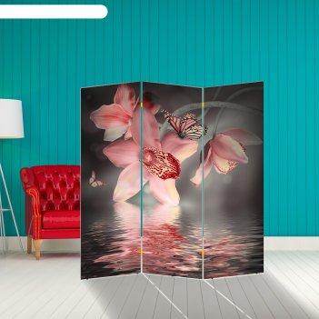 Ширма орхидея. водная гладь, 160 x 150 см