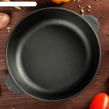 Сковорода чугунная монолит, 240 х 60 мм, тм brizoll