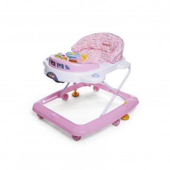 Ходунки детские baby care  tom & mary, цвет розовый