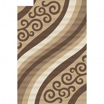 Ковёр карвинг хит-сет mega carving d297, 1*3 м, прямоугольный, beige