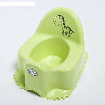 Горшок детский музыкальный «динозаврик дино», цвет зелёный