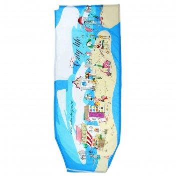 Чехол для гладильной доски универсальный (бязь 1290х510), цвета микс