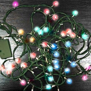 Гирлянда электрическая 100led цветного свечения, зеленый провод 8м, 8 режи