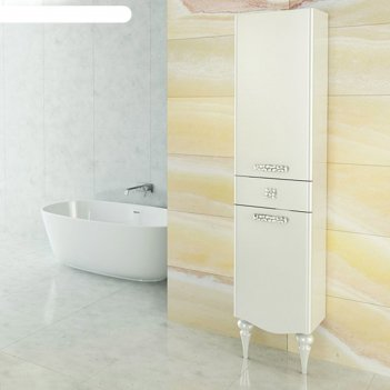 Шкаф-колонна для ванной монако-40 195 х 40 х 32,2 см, белый