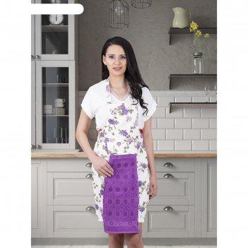 Фартук кухонный karna с салфеткой 30x50 см, 360 г/м2, цвет фиолетовый