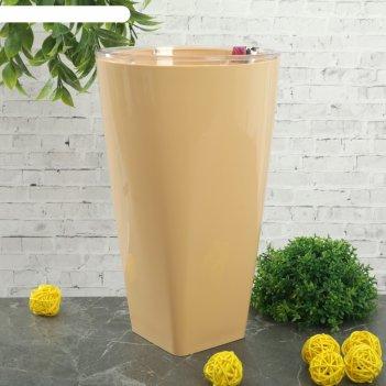 Кашпо грейс d=15 см, цвет кремовый