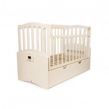 Детская автоматическая кроватка укачай-ка 03, ваниль