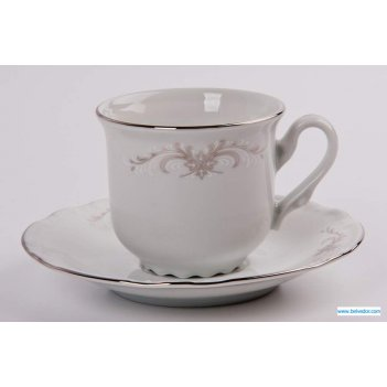 Набор для чая констанция 7351100(чашка135мл.+блюдце) на 6п