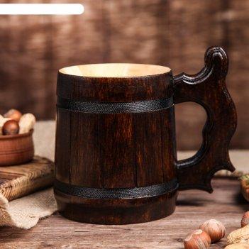 Кружка для пива, деревянная ретро, 0,3 л