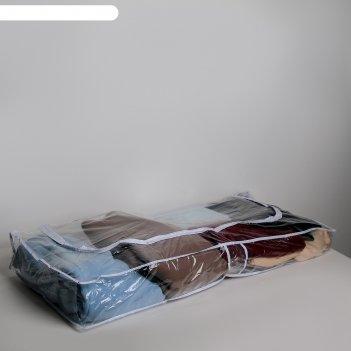 Кофр для хранения вещей 105x45x15 см, прозрачный