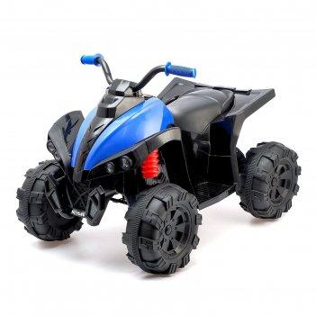Электромобиль квадроцикл, 2 мотора, цвет синий