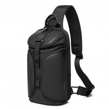 Рюкзак молодежный, на одной лямке bange bg22057 черный, 9.7