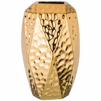 Ваза декоративная золотая коллекция 18,5*18 см высота=30,5 см (кор=12шт.)