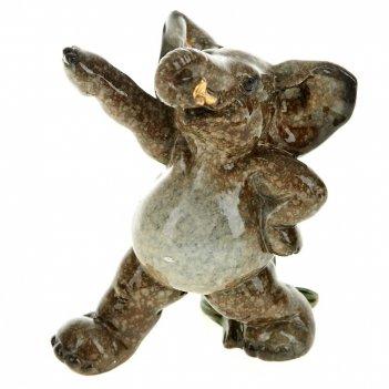 Фигурка декоративная слон-спортсмен 9*6*9,5см. (2вида) (min2) (полистоун)