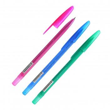 Ручка шариковая стамм конфетти синий стержень, корпус микс