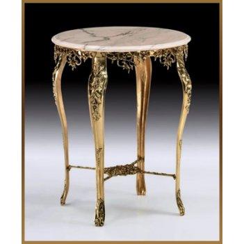 Стол из бронзы круглый virtus золото 80х64 см 8175