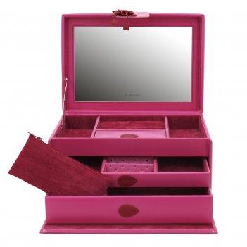 Шкатулка для драгоценностей amira, розовая