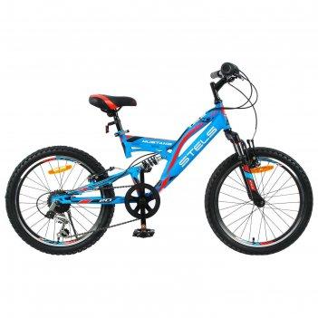 Велосипед 20 stels mustang v, v010, цвет синий, размер 13