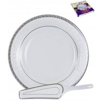 Набор для торта венера «альмак» 30 см, 2 предмета
