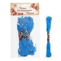 Нитки для вышивания мулине 8 м №995, цвет голубой